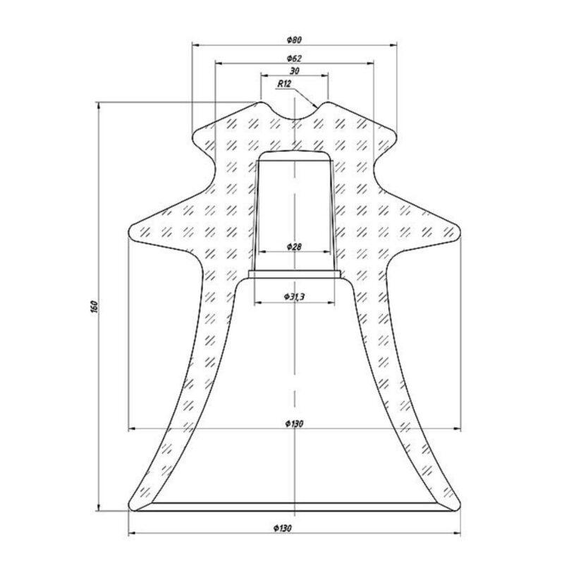Изолятор ШС-10Д Размеры