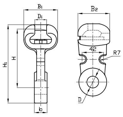 У1-7-16 Размеры ушка